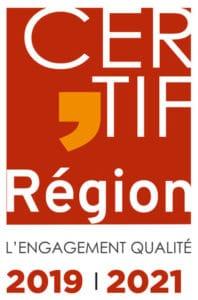 Label Qualité CERTIF'REGION 2019-2021